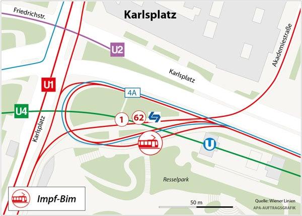 Impfbim Karlsplatz Plan